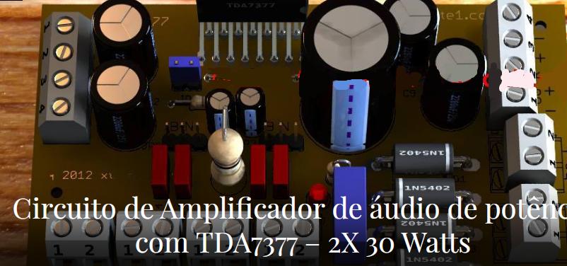 امپلی فایر دوبل 30 وات با tda7377